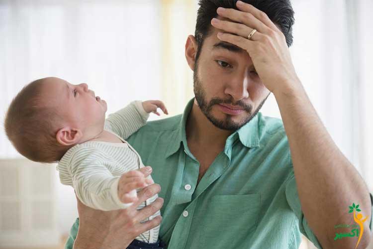 تاثیر افسردگی پدران