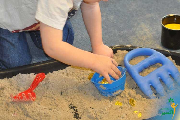 شن بازی و شن درمانی برای کودکان