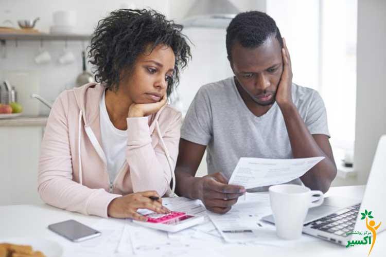 تاثیرات منفی استرس مالی