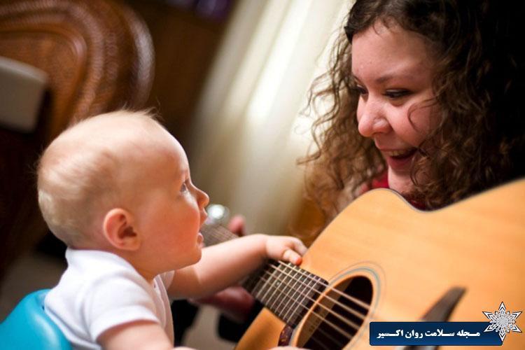 اثر موسیقی بر نوزاد