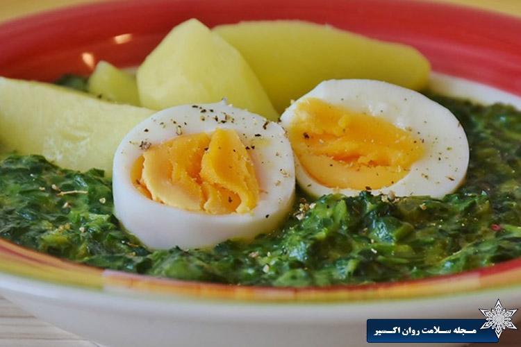 تخم مرغ برای رفع خستگی