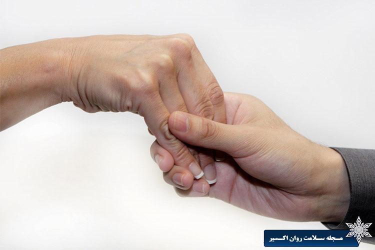 دست دادن آرام
