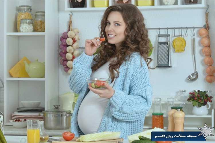 خوردن زیاد زن باردار