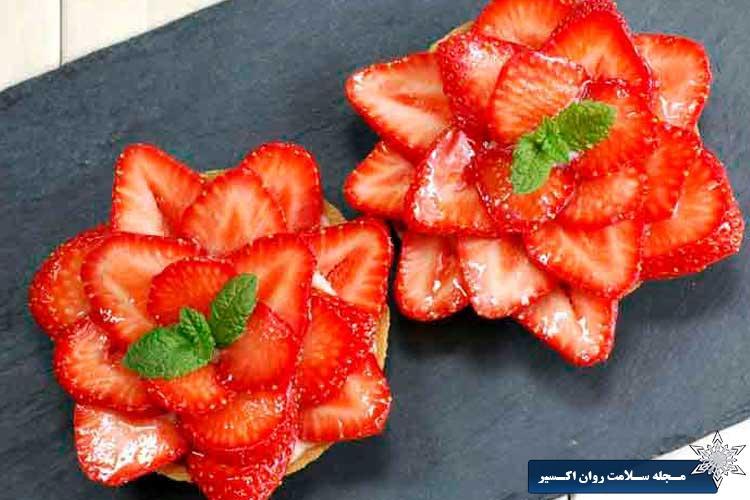 توت فرنگی برای کاهش وزن