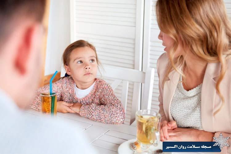 به کودک اجازه صحبت کردن بدهید.