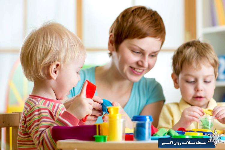 کارگاه مادر و کودک بازی و هیجان